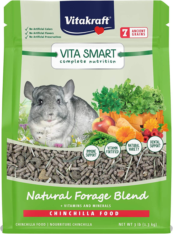 Vitakraft Vita Smart Chinchilla Food - Natural Forage Blend, 3Lbs., Model Number: 59503