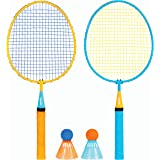 Franklin Sports Kids Badminton Set - Smashminton Set - 2 Player Youth Combo Set with Birdies