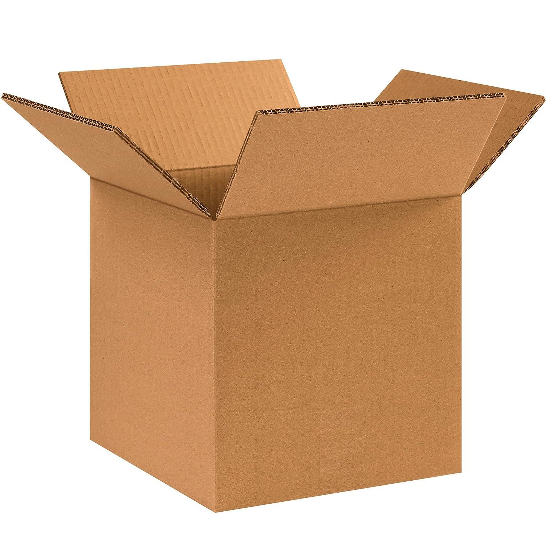 10L x 10W x 10H BOX USA B101010 Corrugated Boxes Pack of 25 Kraft