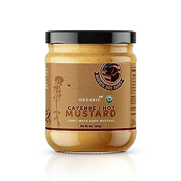 Amazon com : Brown Dog Fancy Organic Spicy Hot Dijon Mustard
