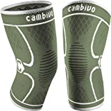 CAMBIVO 2 Pack Knee Brace, Knee Compression Sleeve Support for Men and Women, Running, Hiking, Arthritis, ACL, Meniscus…