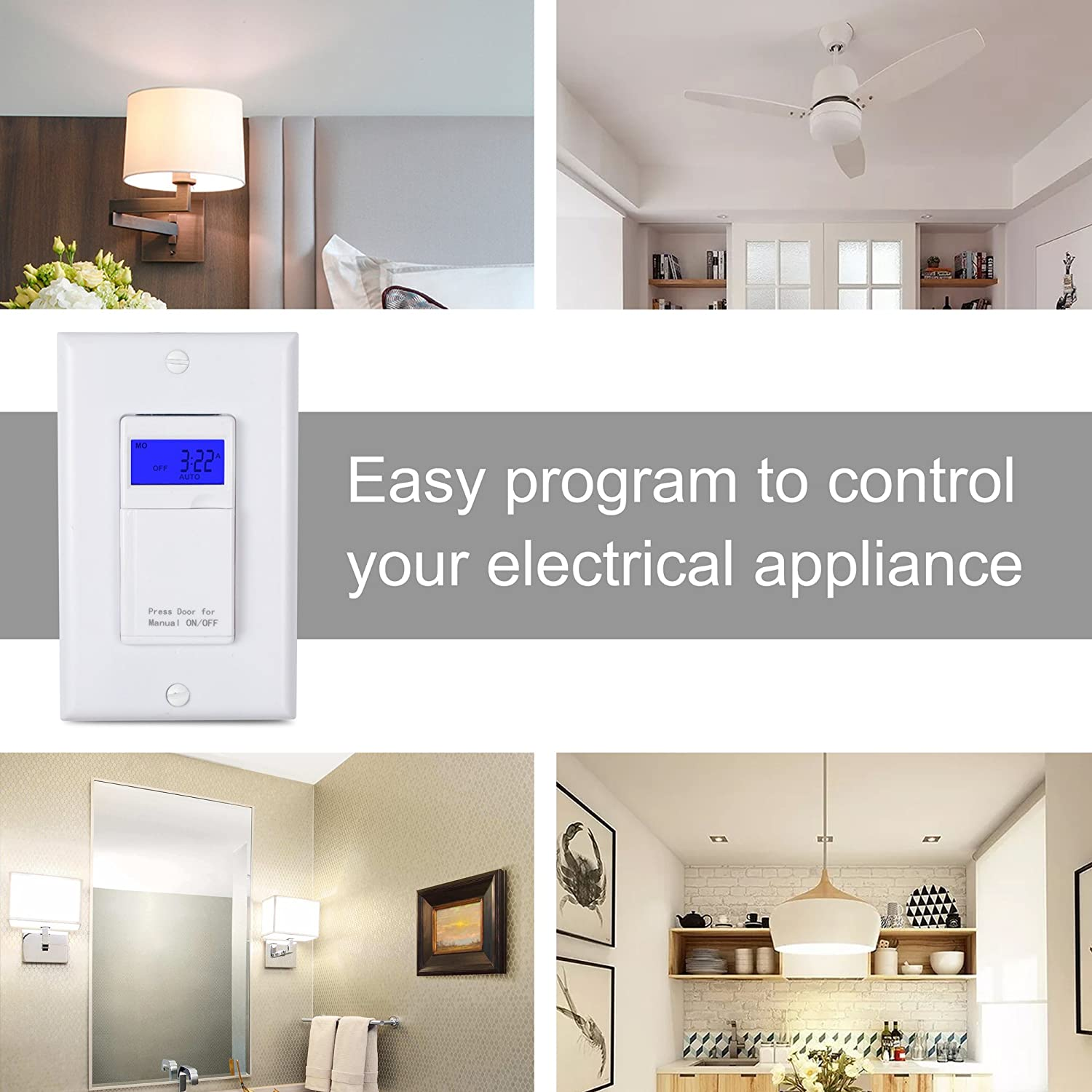 Century 7 Day Programmable In Wall Timer Switch Digital With Blue 3 Way Light Ebay Custom Template