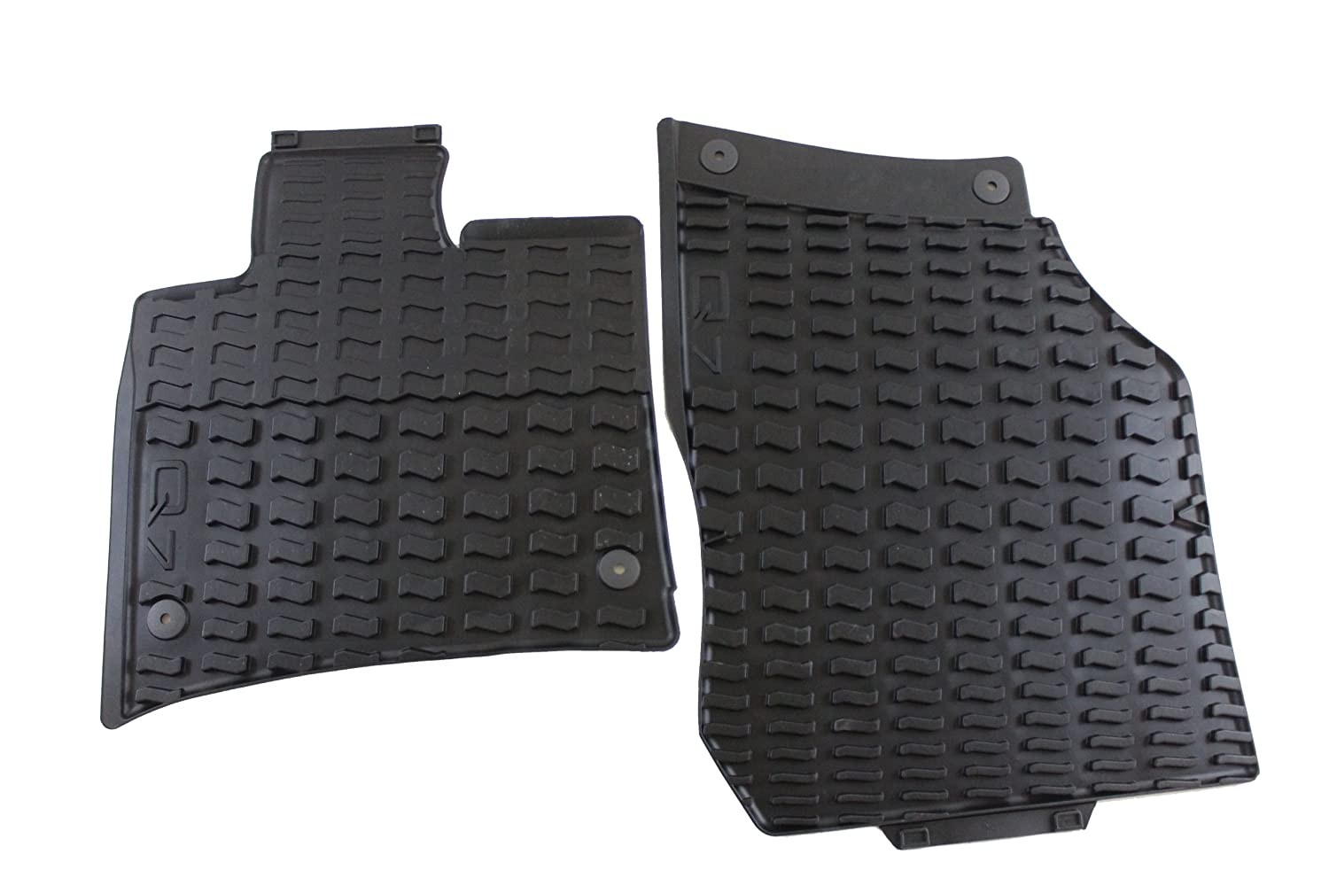 Amazoncom Genuine Audi Accessories L Black Rubber Front - Audi car mats