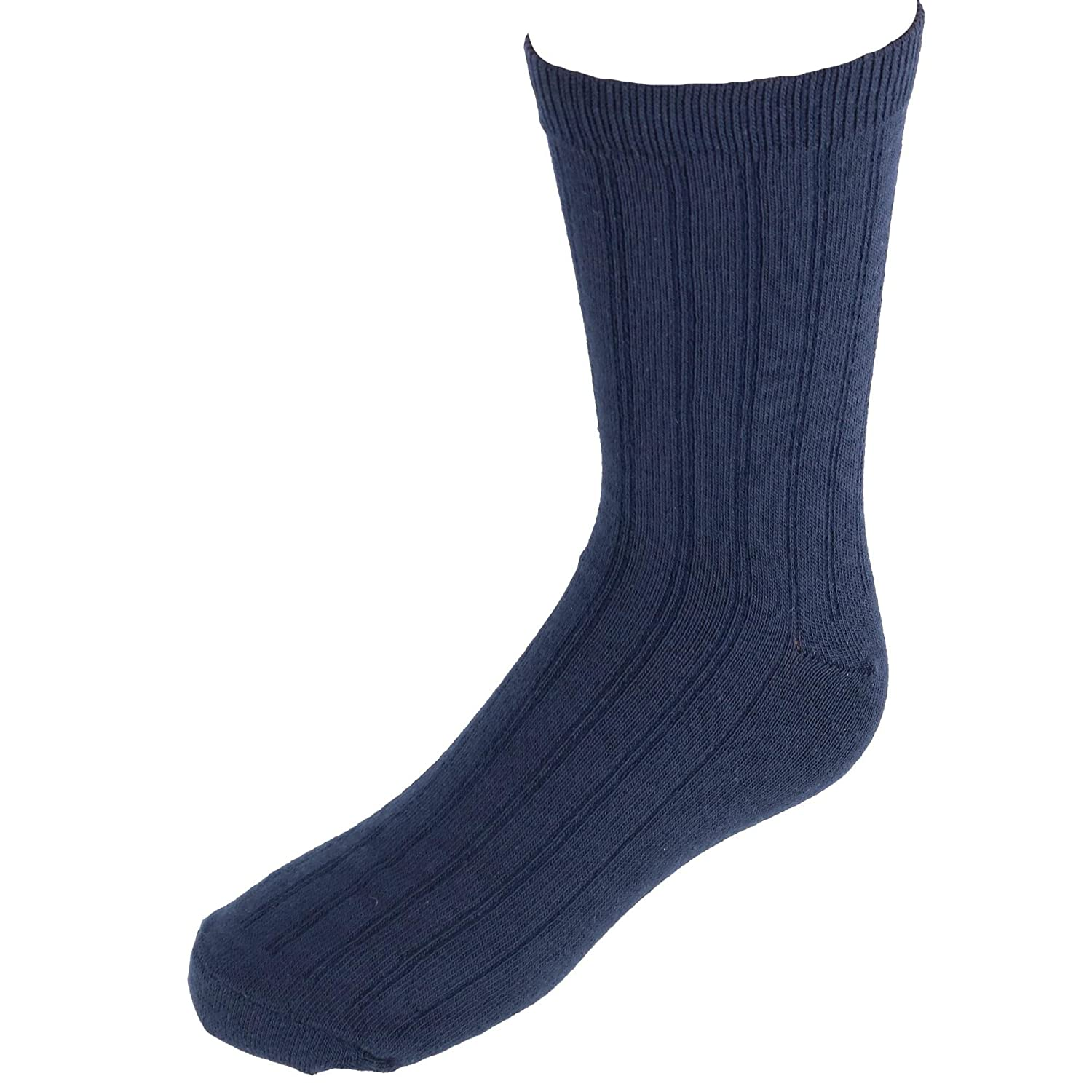 Jefferies Socks Big Boys' Three-Pack Rib Crew Socks 1158