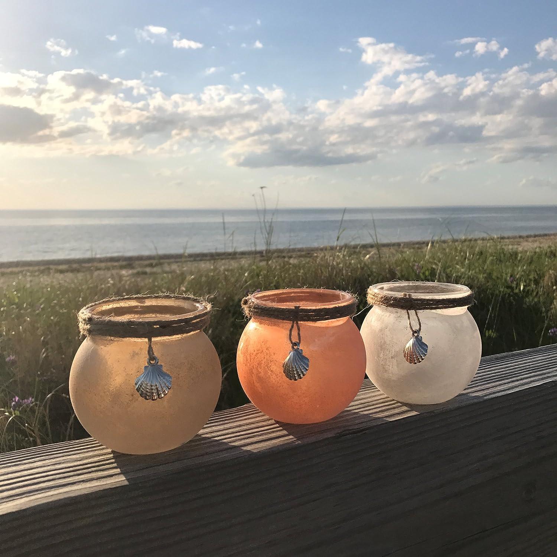 The Beach chic tazza candela centrotavola vento luci, set da