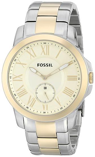 Fossil FS5026 - Reloj de pulsera de acero inoxidable para hombre con correa de eslabones,