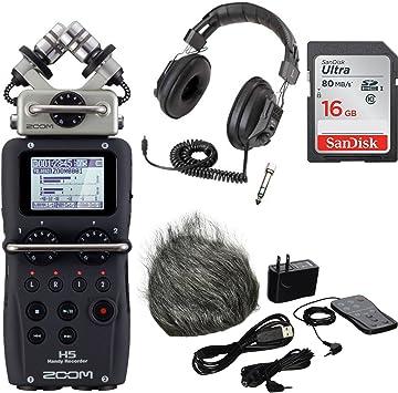 Zoom H5 Handy Recorder PLUS pack de accesorios para h5,16gb tarjeta SD, auriculares): Amazon.es: Instrumentos musicales