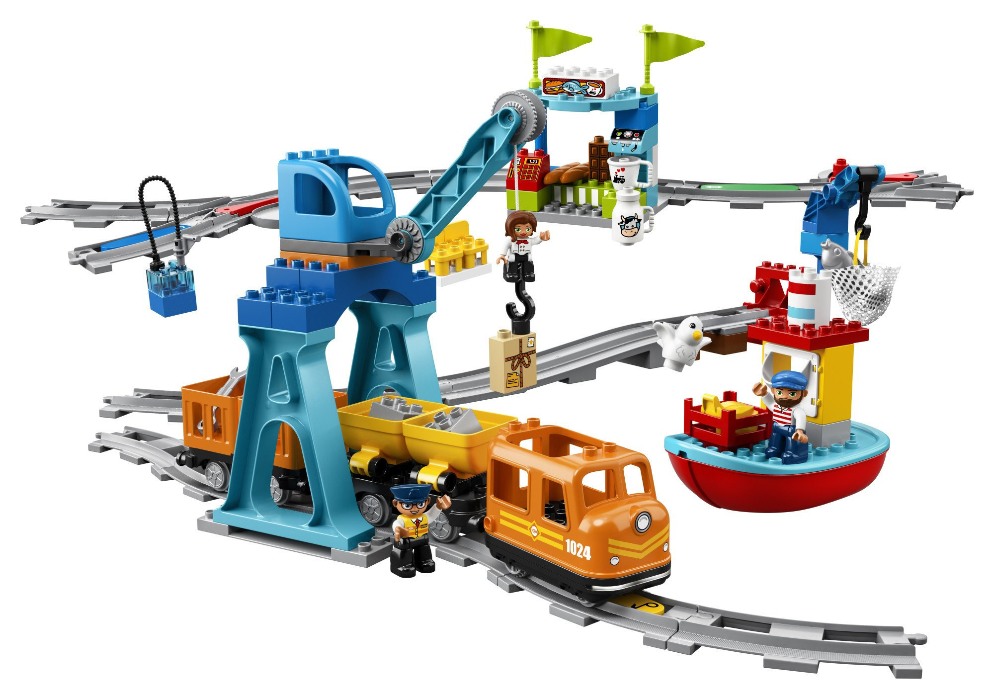 LEGO DUPLO Cargo Train 10875 Battery-Operated Building Blocks Set, Best Engineering and STEM Toy for Toddlers (105 Pieces) (Amazon Exclusive) by LEGO DUPLO Trains (Image #2)