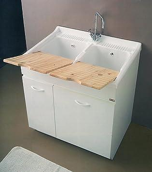 Yellowshop – Mobile Waschbecken Spüle Küche und Badezimmer aus Holz ...