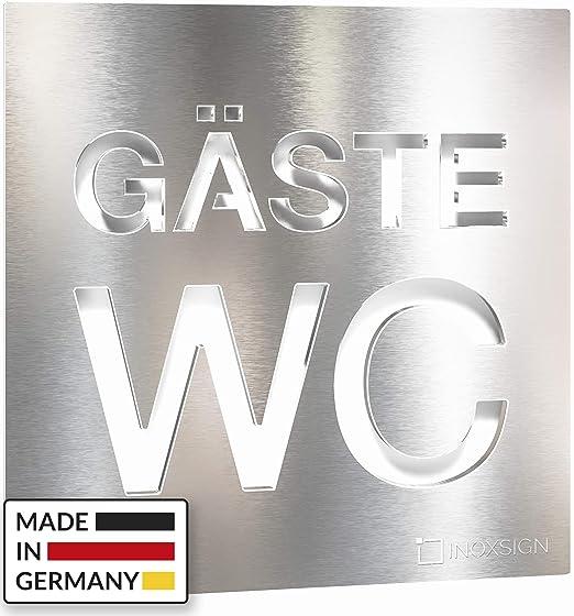 INOXSIGN W08 - Cartel Autoadhesivo para Puerta de baño ...