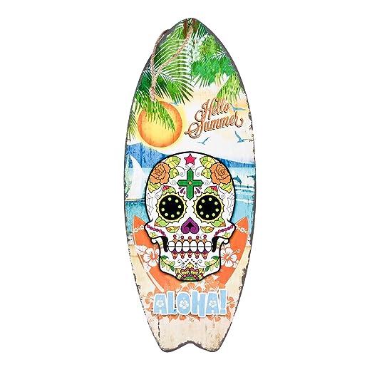 Dadeldo-Home Cartel de Madera Tabla de Surf Aloha Santa ...