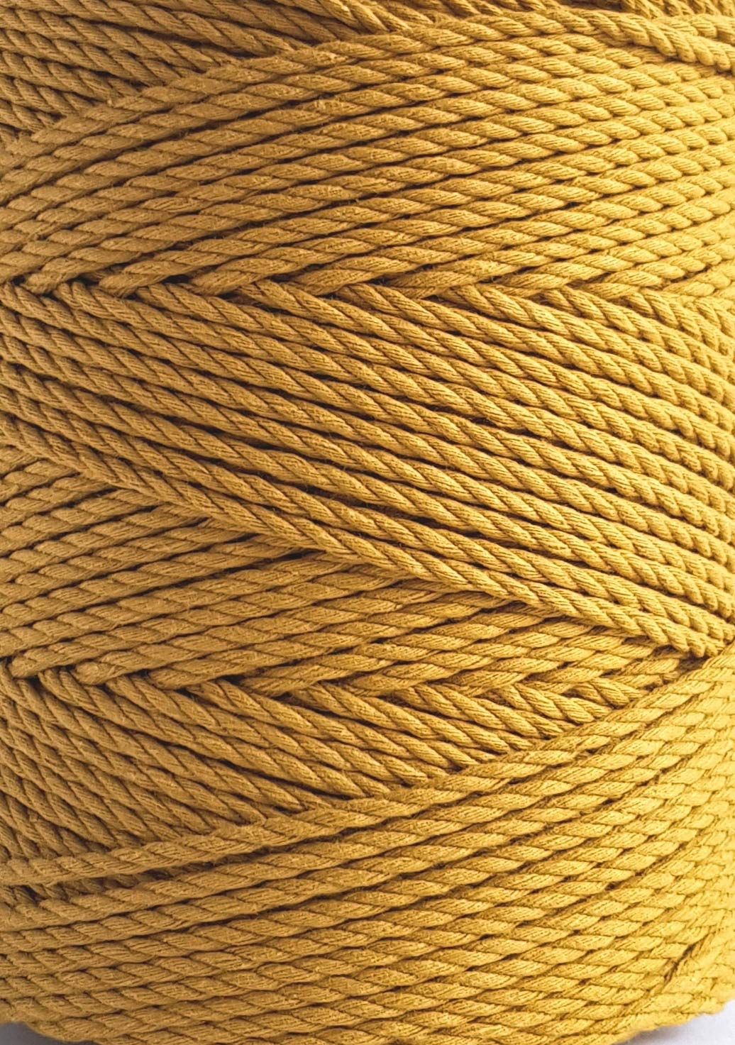 Macrame rope 3mm MUSTARD cotton rope 787 feet mustard macrame cord 262 yard cotton rope for macrame projects 3mm Handmade Decorations Macrame Wall Hangings Plant Hanger Crocheting Bohemia DIY