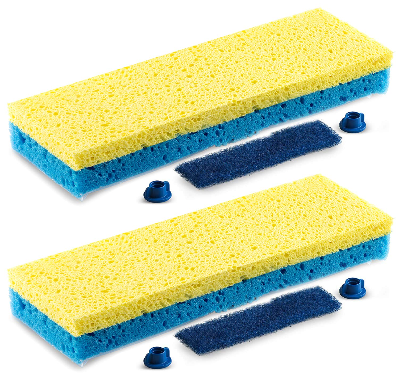 2 xgenuine Minky Sponge Mop Recharge Minky réflexe Sponge Mop tête remplacements!!!