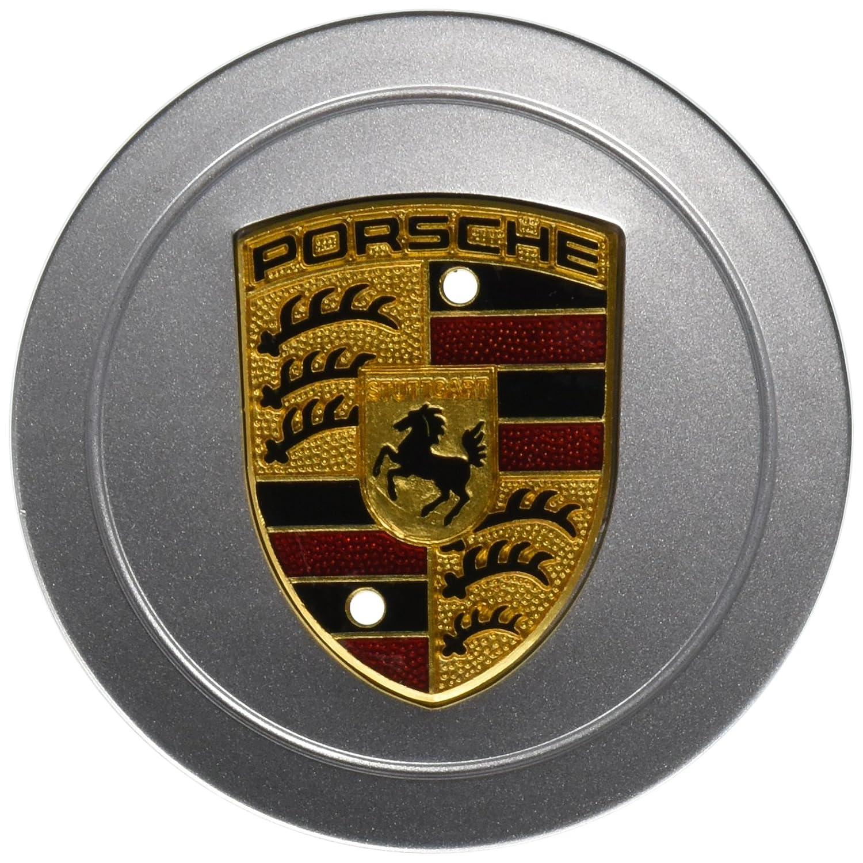 Porsche 986 996 aleación rueda Hub Cap (1) auténtica W/pintado Crest: Amazon.es: Coche y moto