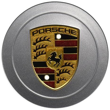 Porsche 986 996 aleación rueda Hub Cap (1) auténtica W/pintado Crest