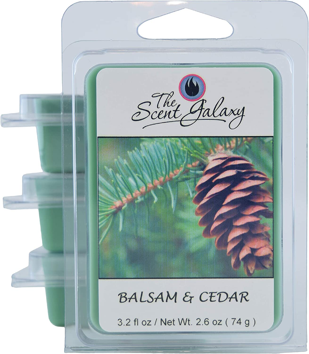 The Scent Galaxy Balsam & Cedar Wax Melts - Highly Scented Wax Melts - Long Lasting Aroma - Pure and Natural - Hand Poured - 2 Pack of 6
