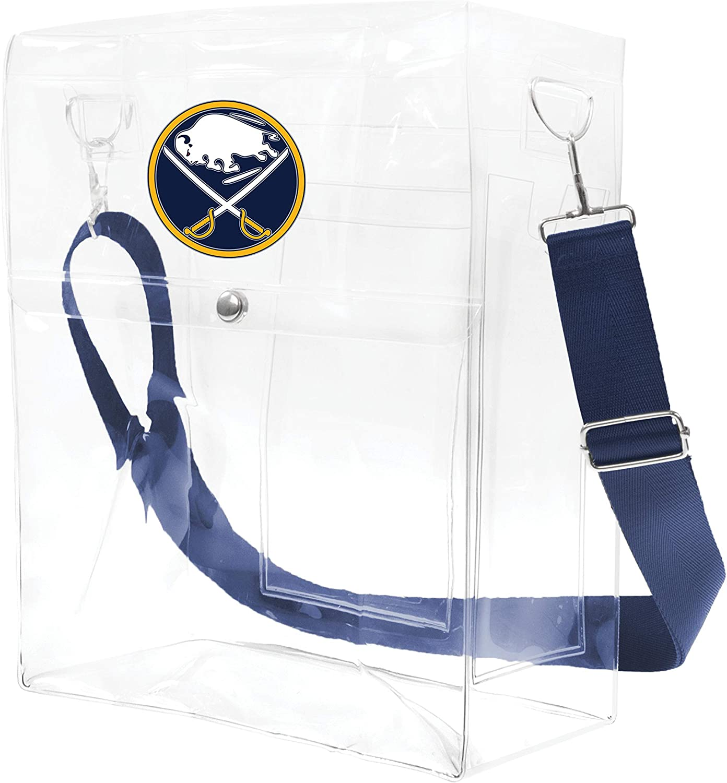 Littlearth NHL Unisex NHL Clear Ticket Satchel Purse