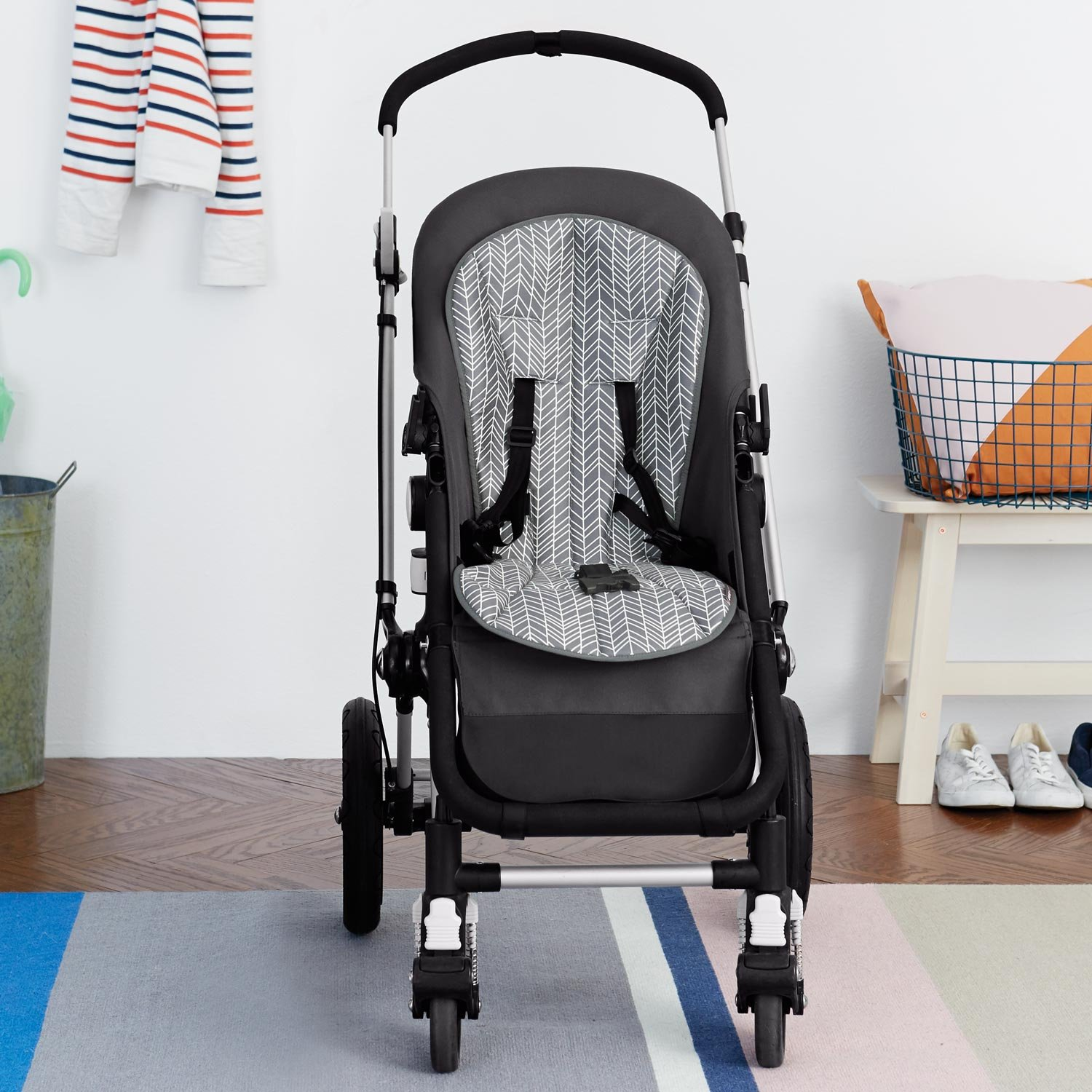 Skip Hop Stroll-and-Go Cool Touch Stroller Liner, Grey Feather by Skip Hop (Image #8)