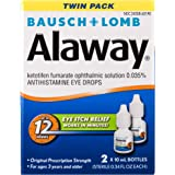 Bausch + Lomb Alaway Antihistamine Eye Drops, 0.34 Fl Oz Bottle, Twinpack