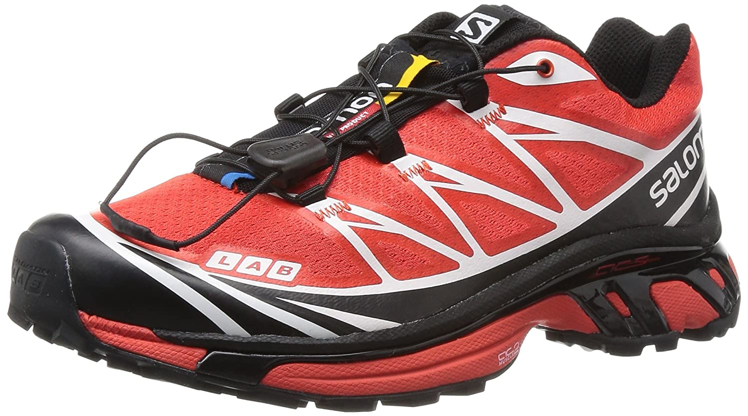 Salomon メンズ Salomon S-Lab XT 6 SG Trail Running Shoe - Men's B00AO0K3X0 7.5 D(M) US ブラック レッド