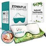 Heated Eye Mask for Dry Eyes Warm Compress for Eyes | Moisturizing Heat for Styes, Pink Eyes, Blepharitis and Puffy Eyes - Adjustable, Microwavable, Washable & Reusable | Bonus Storage Pouch