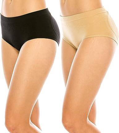 Womens Booty Booster Panty Briefs Butt Lifter Body Shaper Black Beige Underwear
