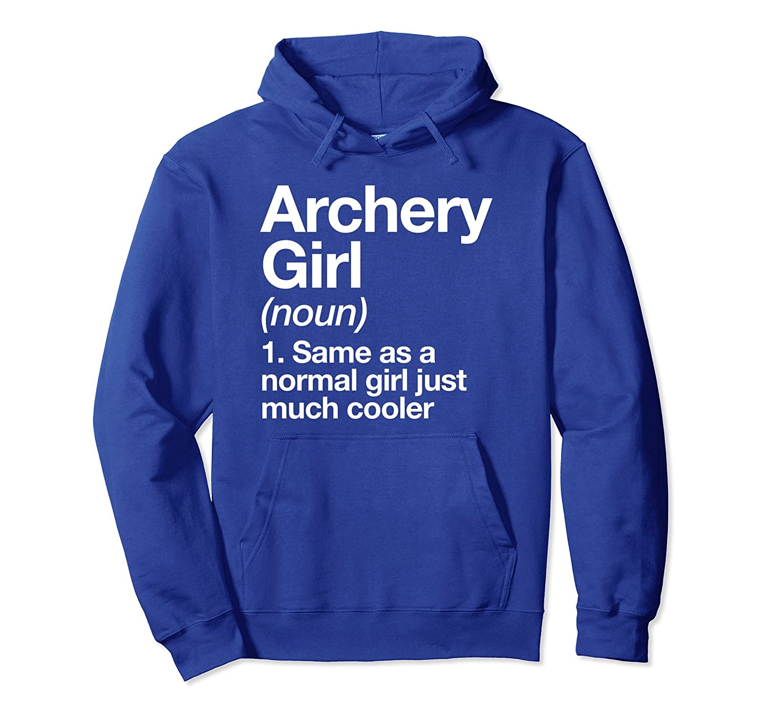 Archery Girl Definition Hoodie Funny Sports Pullover-mt
