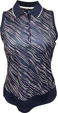 PGA TOUR Women's Sleeveless Printed Polo Shirt