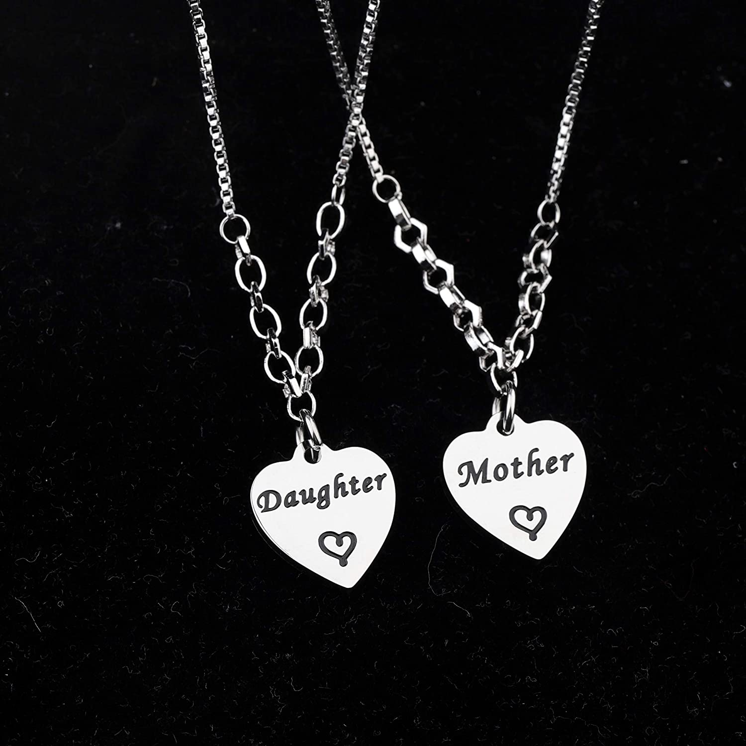 FUSTMW Mother Daughter Bracelet Set Mom and Daughters Jewelry for Mom Birthday Gifts