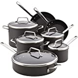 Anolon Authority Hard-Anodized Nonstick 12-Piece Cookware Set, Gray