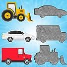 幼児や子供のための車のパズル