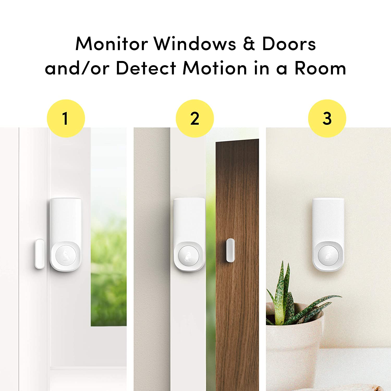 Amazon.com: Kangaroo Home Security Motion + Entry Sensor (2 ...
