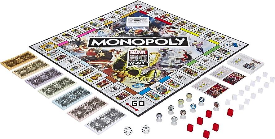 Monopoly - Juego de Mesa de Monopoly Marvel 80 años Comics: Amazon.es: Juguetes y juegos