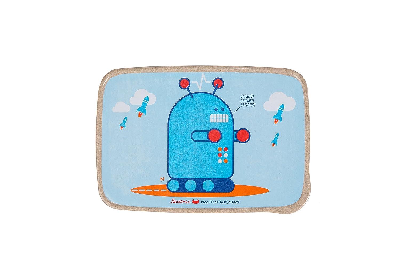 Beatrix New York Rice Fiber Bento Box: Pixel (Robot), Blue, One Size by Beatrix New York   B01CI24C74