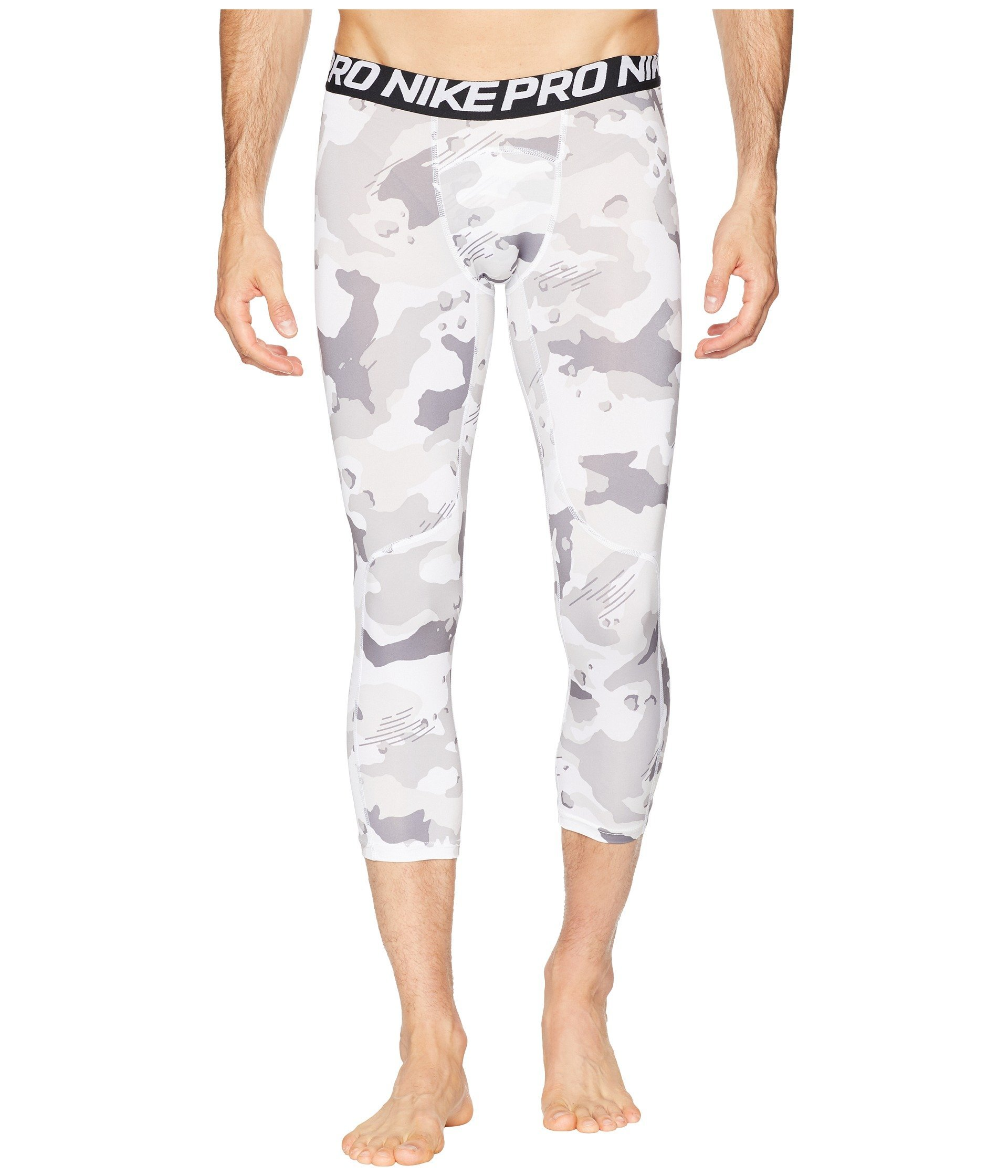 Nike Men`s Pro Cool 3/4 Compression Tights (X-Large 21.5, White(AQ1197-100)/Camo) by Nike