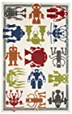 Mohawk Home  Aurora Robot Army  Colorful Printed