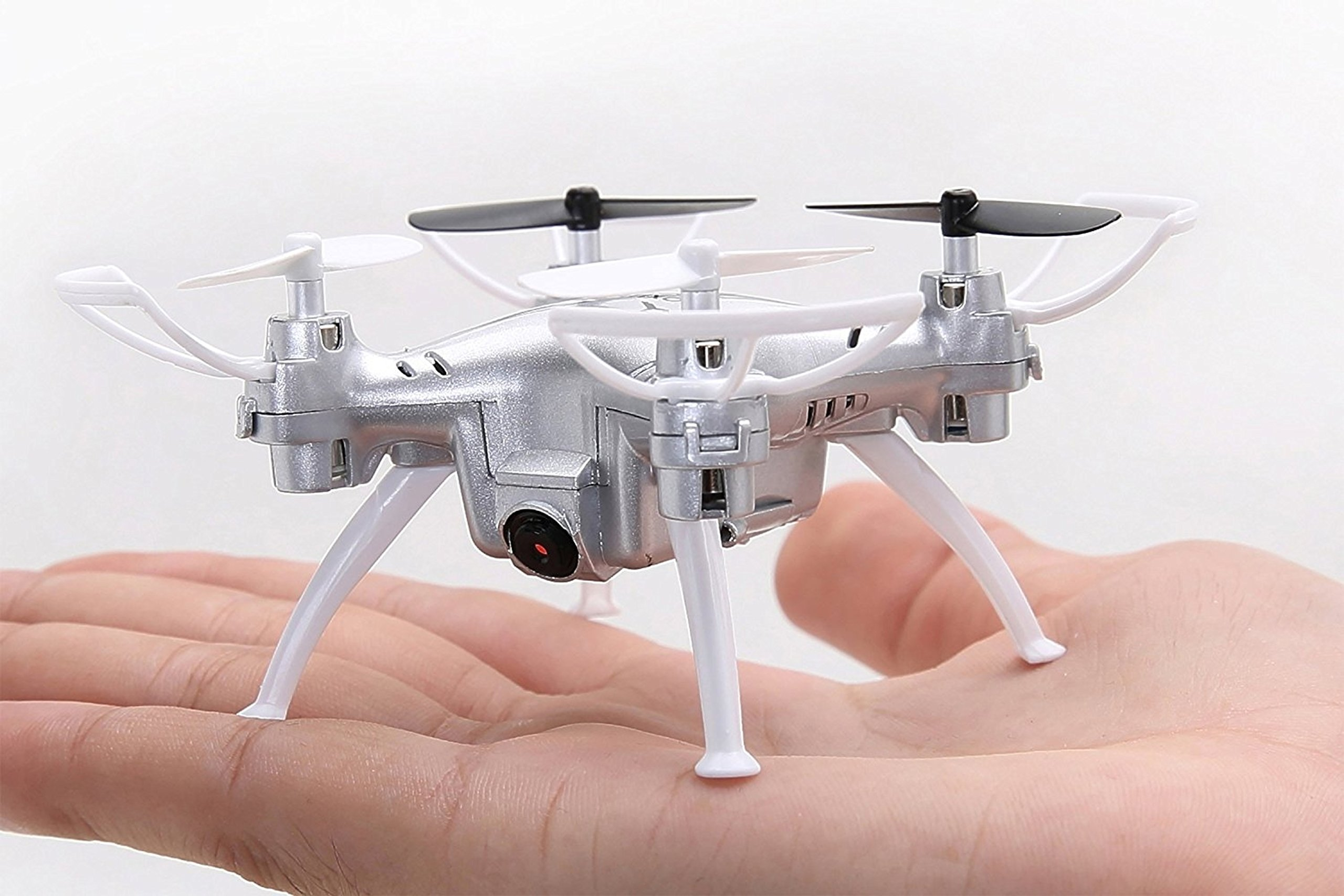 One-Key Return Mini Silver Drone 2.4GHz 4CH 6-Axis Gyro Remote Control Quadcopter by Contixo