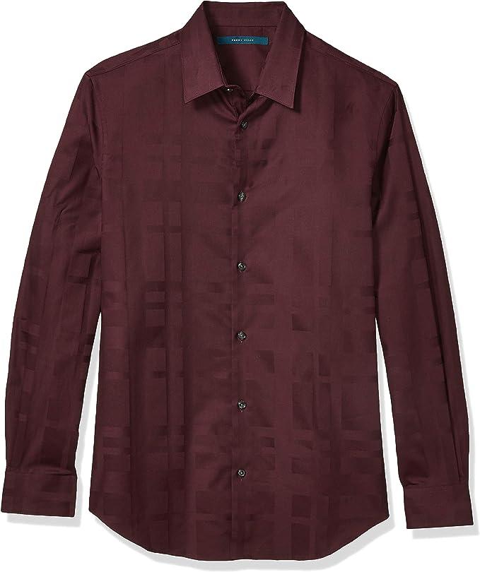 Perry Ellis 派瑞艾磊仕 缎纹 男式长袖衬衫 S码2折$15.75 海淘转运到手约¥126