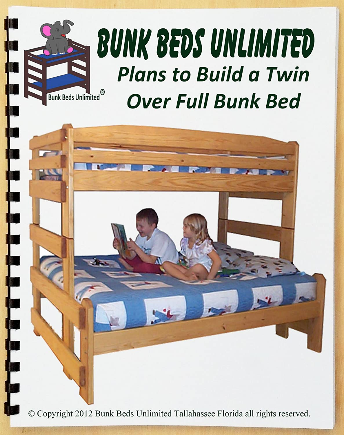 Wood Not Included Bunk Bed Diy Woodworking Plan To Build Your Own Full Over Full Size With Two Large Storage Drawers And Hardware Kit For Bunk And Two Drawers Project Plans Power