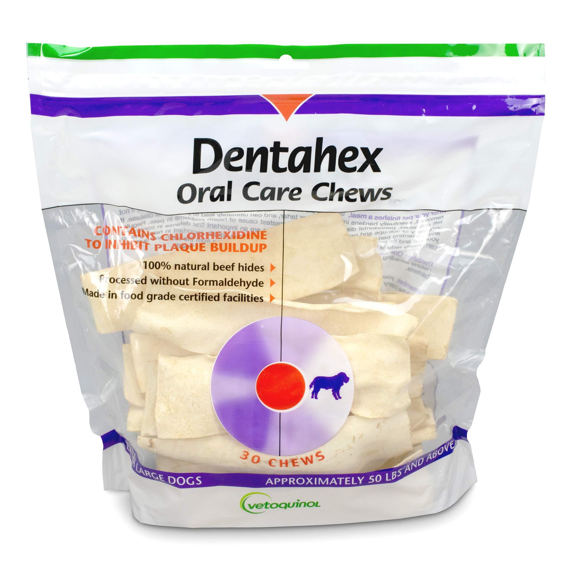 Vetoquinol Dentahex Oral Care Chews for Dogs - Extra-Large, 30ct