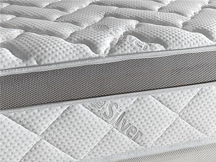 Living Sofa COLCHÓN VISCOELASTICO VISCOELASTICA Premium Acolchado con Hilo DE Plata ANTIESTÁTICO 105 x 190 (Todas Las Medidas): Amazon.es: Hogar
