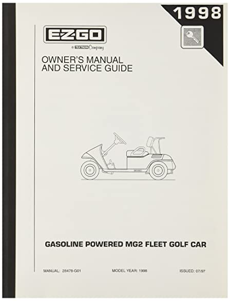 amazon com ezgo 28478g01 1998 ezgo gas medalist owner s manual and rh amazon com ezgo medalist repair manual ezgo marathon manual pdf