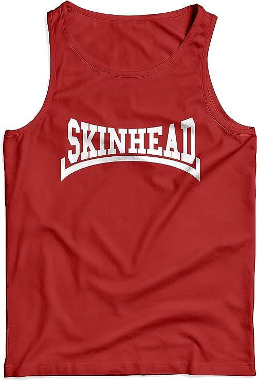 LaMAGLIERIA Camiseta de Tirantes Hombre Skinhead White Print - 100 ...