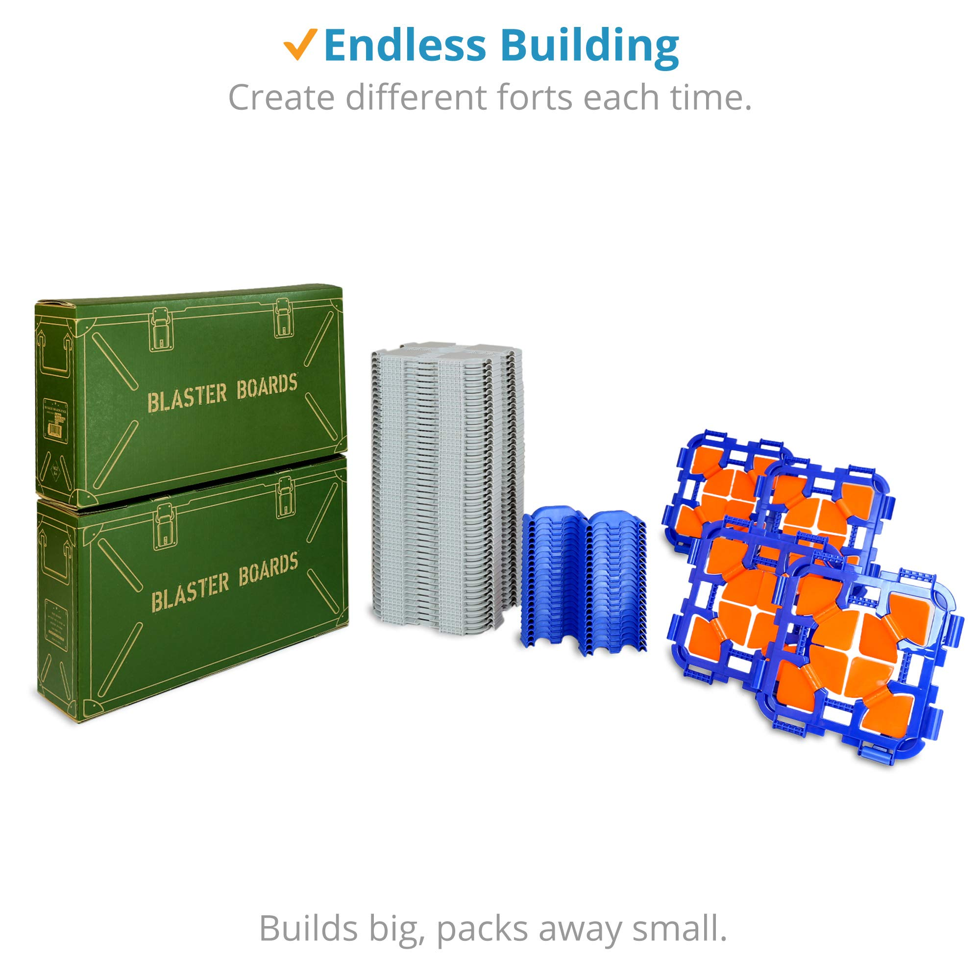 Blaster Boards - 2 Pack | Kids Fort Building Kit for Nerf Wars & Creative Play | 92 Piece Set by Blaster Boards (Image #3)
