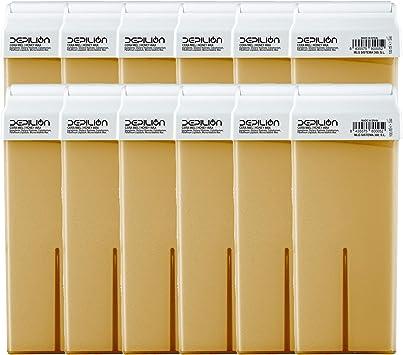 Cera depilatoria Roll On 12 x cartuchos de 100ml Miel - Alta calidad - Pack 12 x Roll-on Cera para depilación: Amazon.es: Salud y cuidado personal