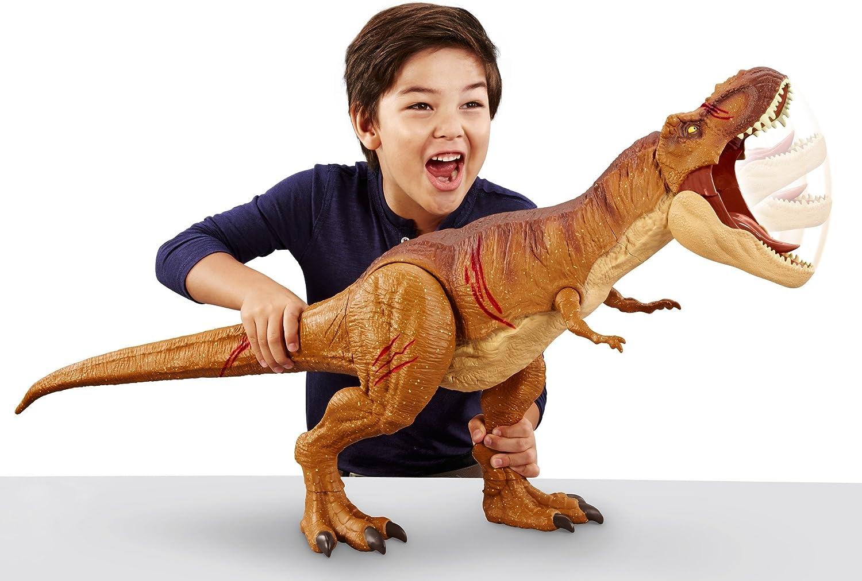 Jurassic World Super Colossal 3ft Tyrannosaurus T Rex Dinosaur BATTLE DAMAGE New