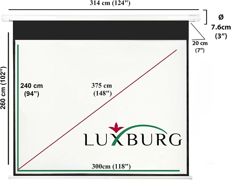Luxburg® Pantalla de proyección 300x225 cm (Diagonal Aprox. 150 ...