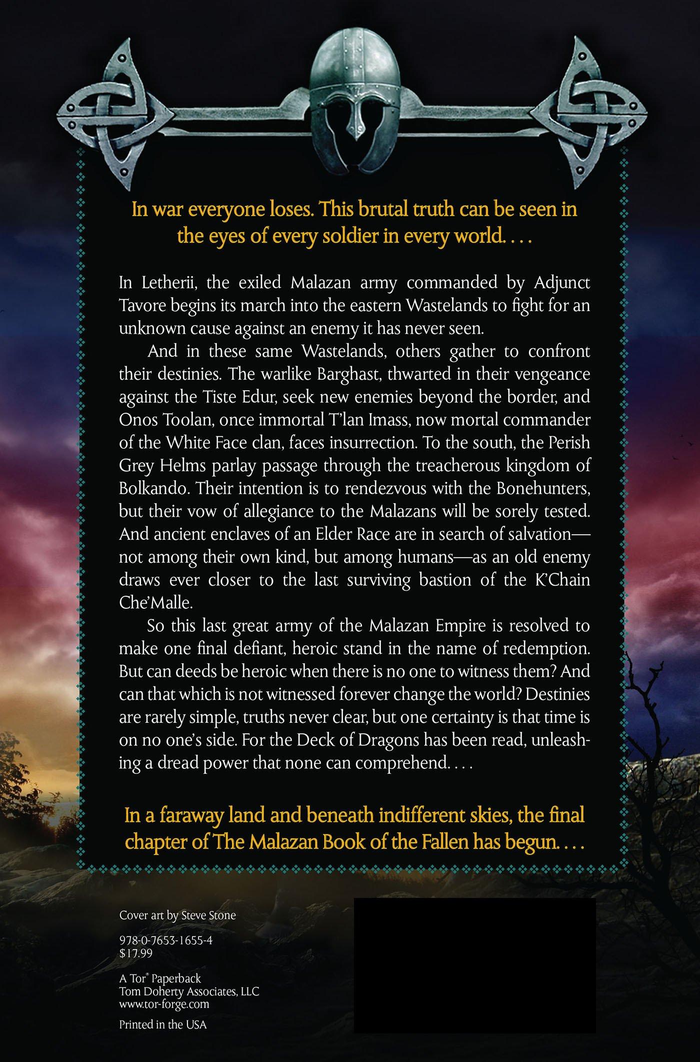 Dust Of Dreams: Book Nine Of The Malazan Book Of The Fallen: Steven  Erikson: 9780765316554: Amazon: Books