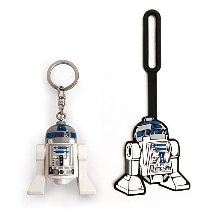 LEGO Star Wars R2-D2 Minifigure Key Light & Luggage Tag Duo