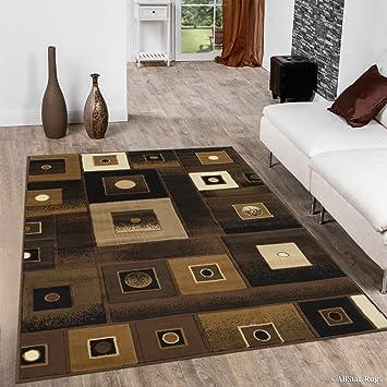 """Allstar Chocolate diseño Moderno Cuadrado área Alfombra, marrón, 7 10"""" ..."""